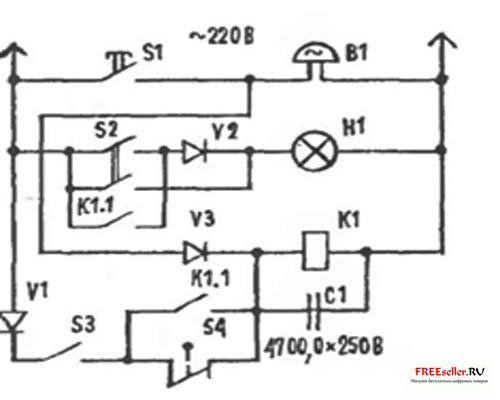 Схема автоматический выключатель света фото 624