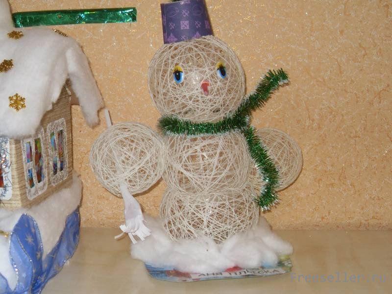 Снеговик из дождика своими руками 73