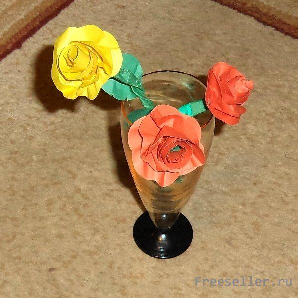 Оригинальные розы своими руками