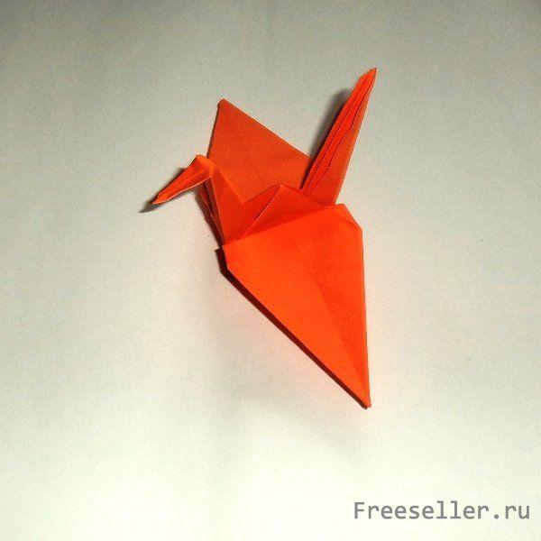 Как сделать японского журавлика оригами фото 124