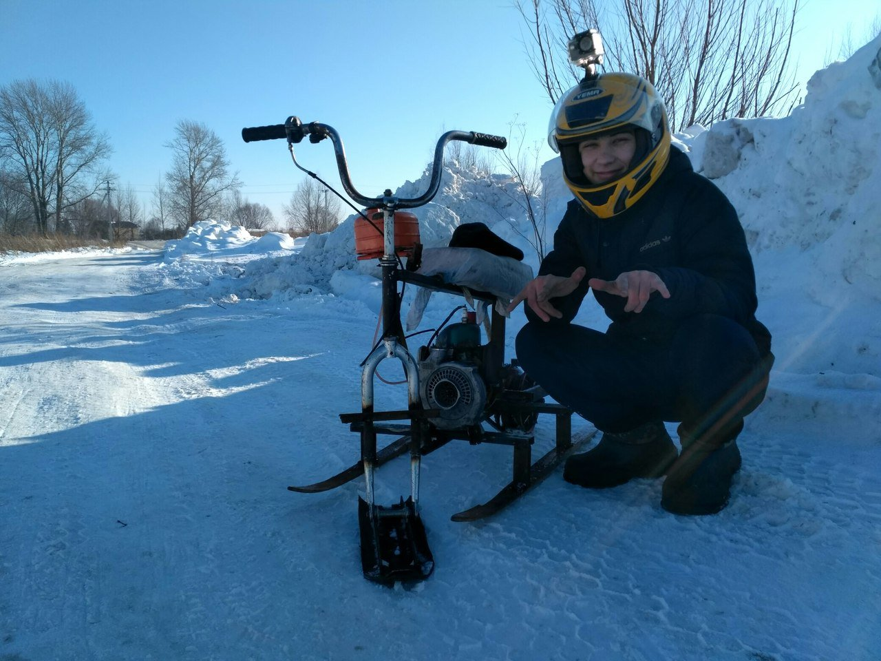 Мини снегоходы своими руками видео 288