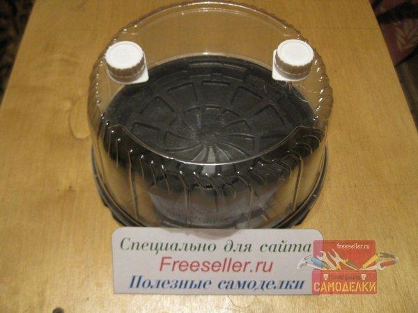 Мини-парник для рассады из коробки от торта своими руками