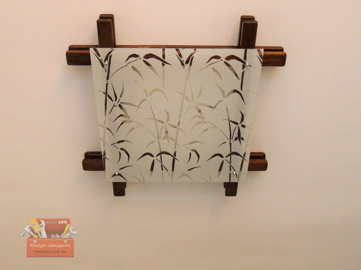 1527833522_61 Светильник из деревянных брусков
