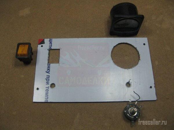 Изготовление передней панели ЗУ из пластика