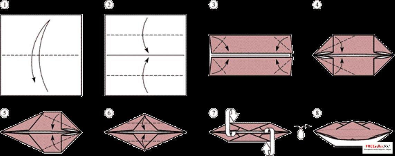 Как сделать оригами лодку
