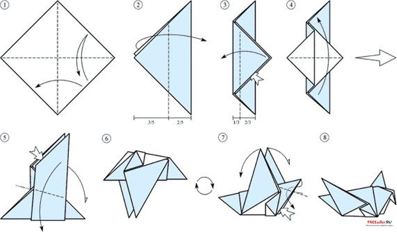 Как сделать птичку из бумаги своими руками