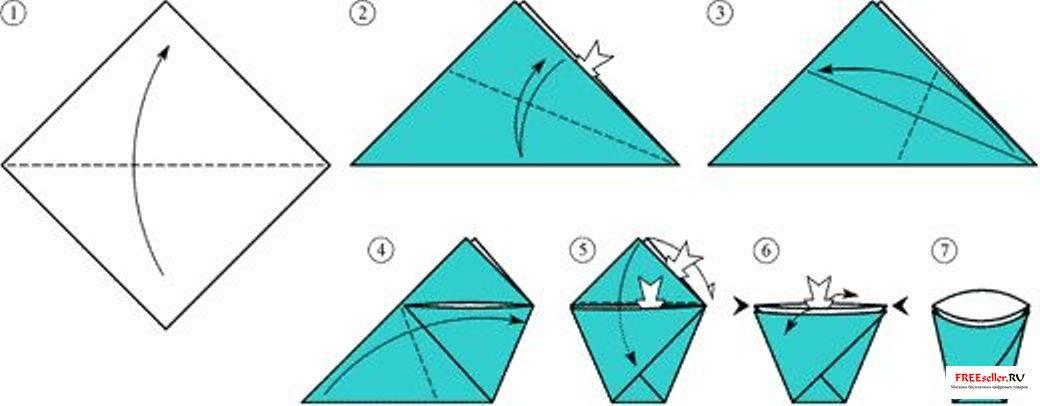 Оригами из простой бумаги своими руками