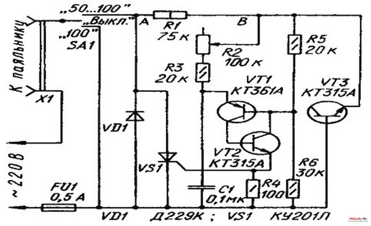 паяльник с цифровой регулировкой температуры схема