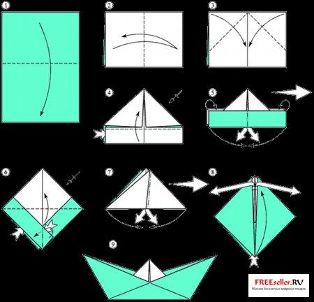 Кораблики поделки из бумаги своими руками 51
