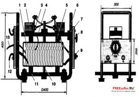 Сварочный трансформатор с электронной регулировкой напряжения тока