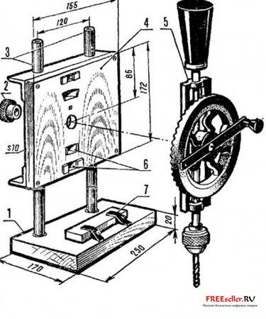 Самодельный сверлильный станок из ручной дрели