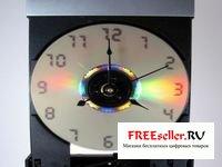 Настенные часы из старого DVD привода