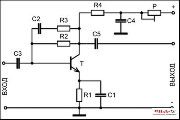 Антенный усилитель 50…1000 МГц