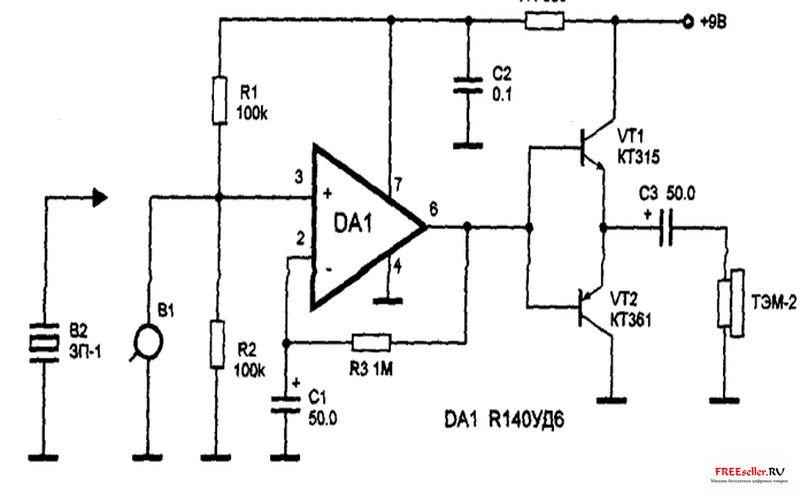 Принципиальная схема микрофона