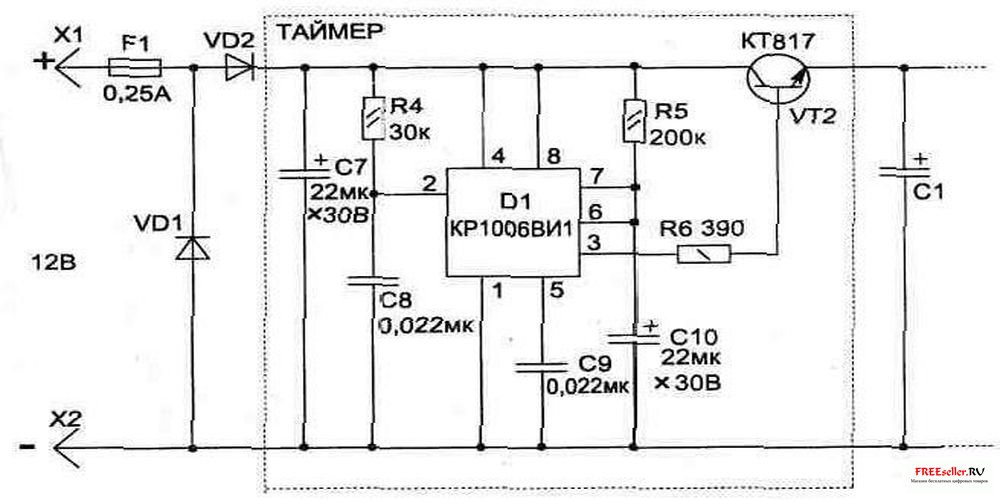 Электрическая схема таймера