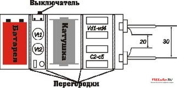 Внешний вид электрошокера.