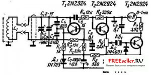 Электронный кодовый замок для дома, гаража, машины - схема