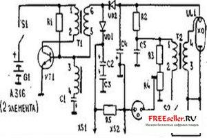 Карманный электрошокер - схема