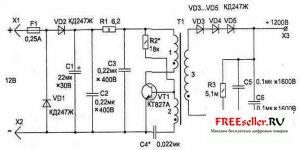 Схема электрозащитное устройство для металических дверей
