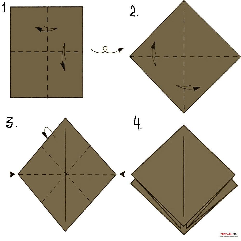 Как сделать оригами птицу схема фото 707