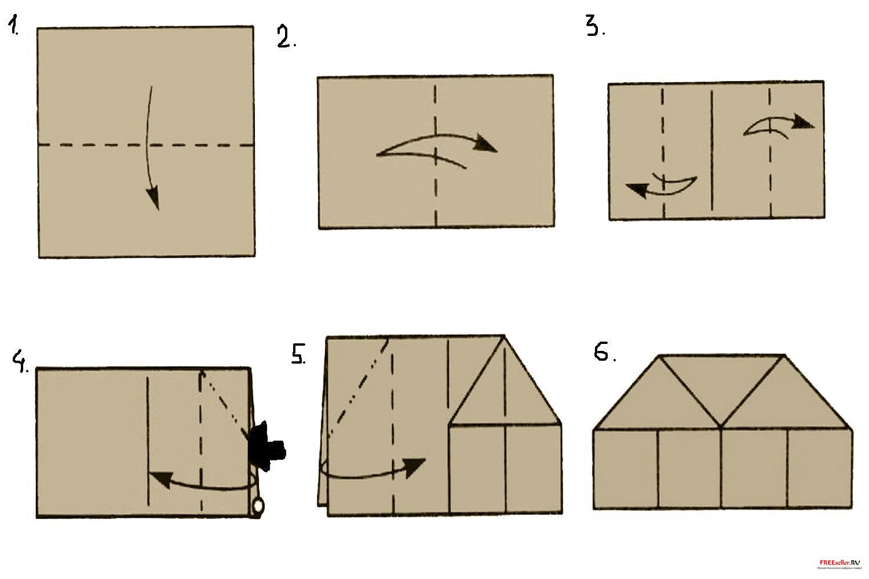 Как сделать домик из бумажных трубочек своими руками - 9312
