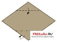 Как сделать складку гора оригами