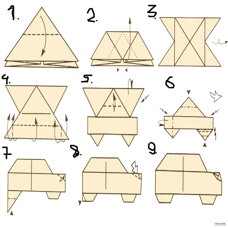 Схемы оригами машина - сайт с мануалами.  На нашем.