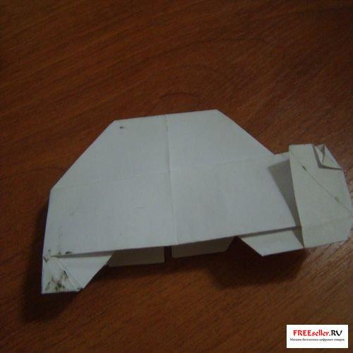 Схема сборки оригами: машинка.