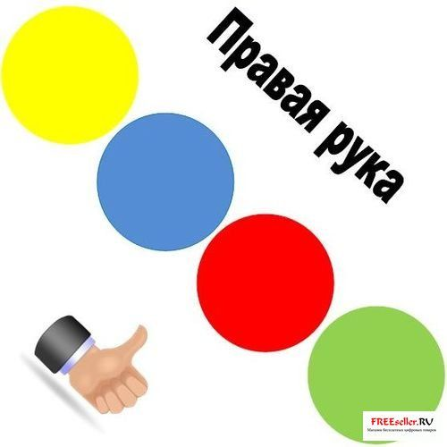 Игра Твистер своими руками - изготовление циферблата и крутилки