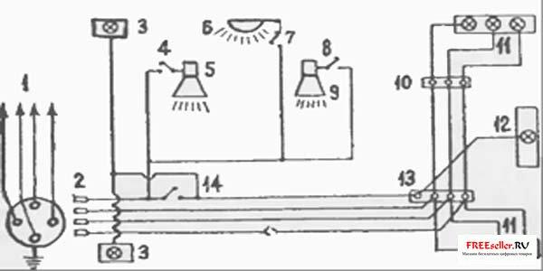 Схема электропроводки и