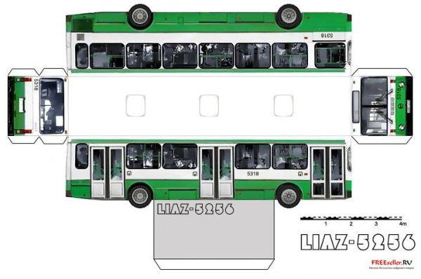 Из бумаг своими руками автобус 62