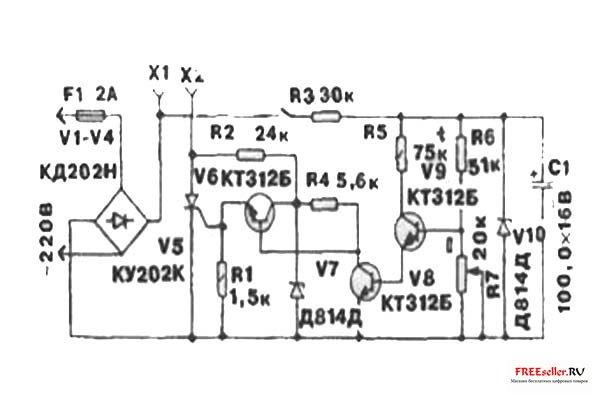 схема терморегулятора.
