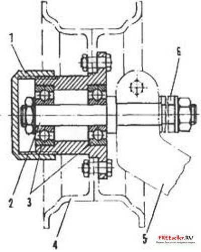 Рис. 10.  Ступица колеса коляски самодельного мотороллера.