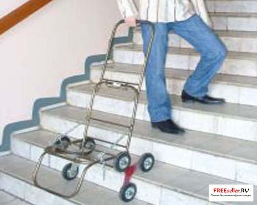 Тележка для лестницы своими руками
