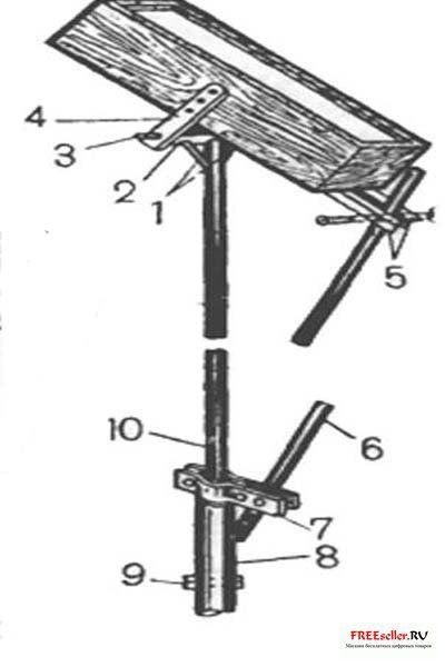 Рис. 3. Крепление и поворотное устройство водонагревателя.  Вот.