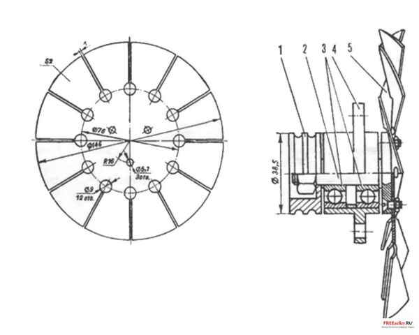 Самодельный мотороллер с коляской.