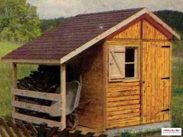 Временные домики своими руками