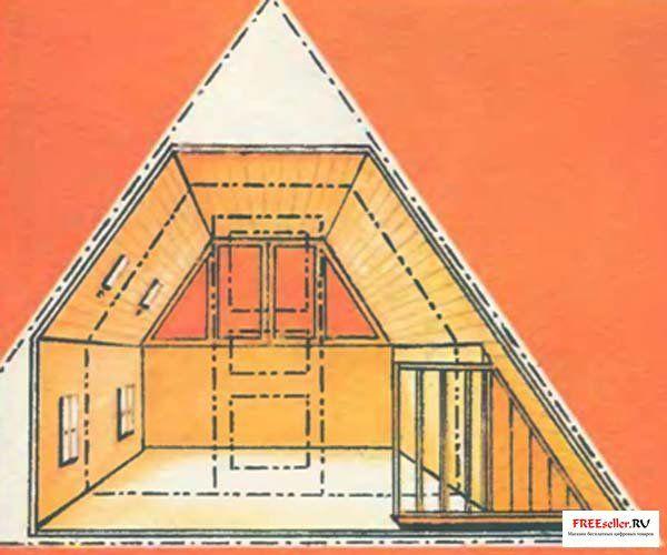 Дачный домик с мансардой своими руками