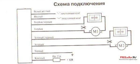 Схема доводчика стекол