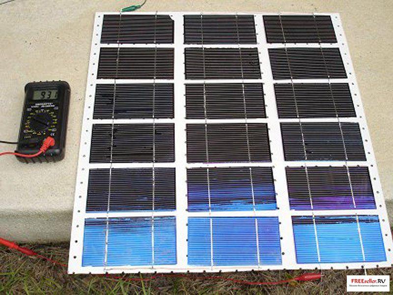 Простая солнечная батарея своими руками
