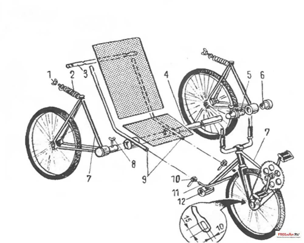 Самодельный трехколесный велосипед своими руками чертежи фото 26