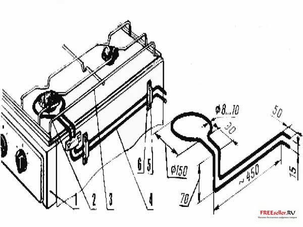 Рис.2. Монтаж теплообменника на газовую плиту.