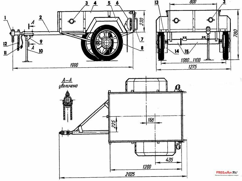 Самодельный грузовой прицеп