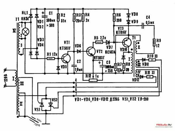 ... схема сварочного трансформатора с