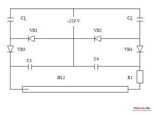 Схема люминесцентных ламп актуальные.