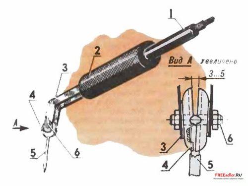 Держатель для сварочных электродов с полуавтоматической заменой огарка