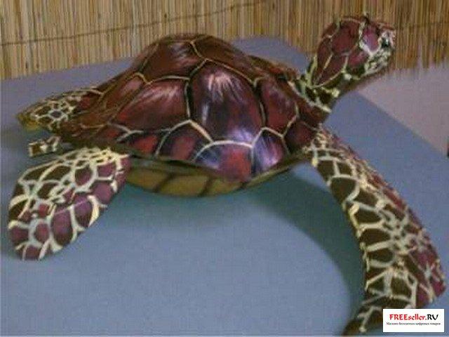 Черепаха из покрышки своими руками