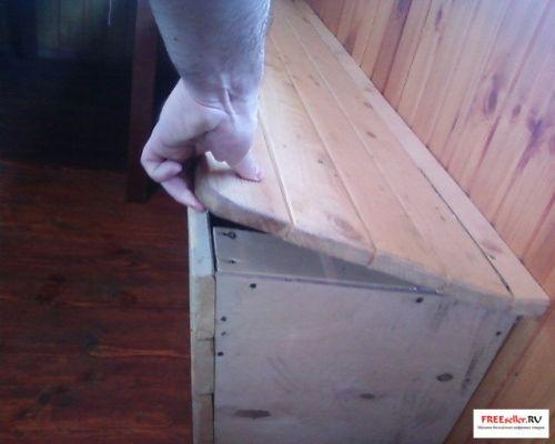 Самодельный вещевой ящик лавка