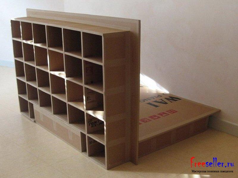 Поделка из коробки №2. Шкаф