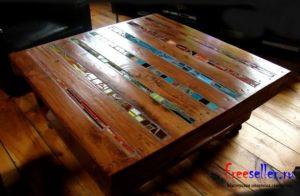 Как сделать журнальный столик из поддонов